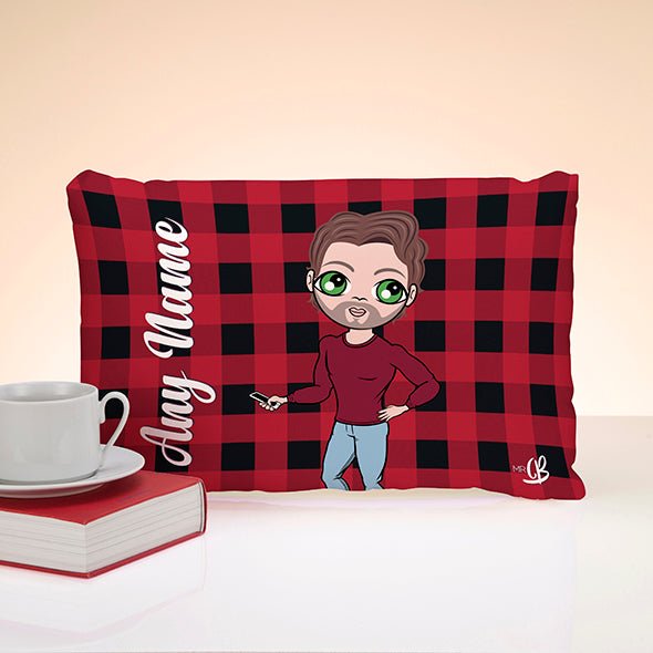 MrCB Tartan Print Placement Cushion - Image 1
