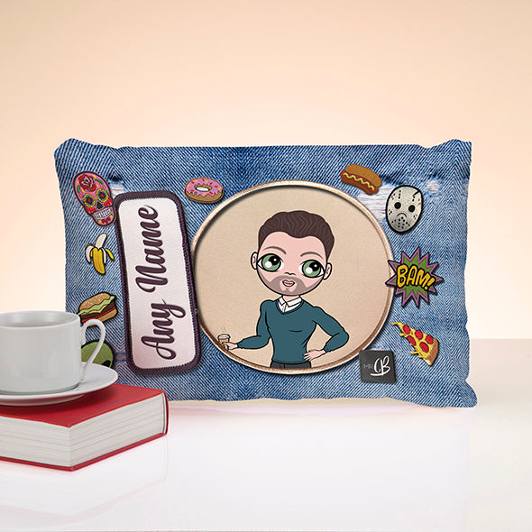 MrCB Denim Effect Placement Cushion - Image 1