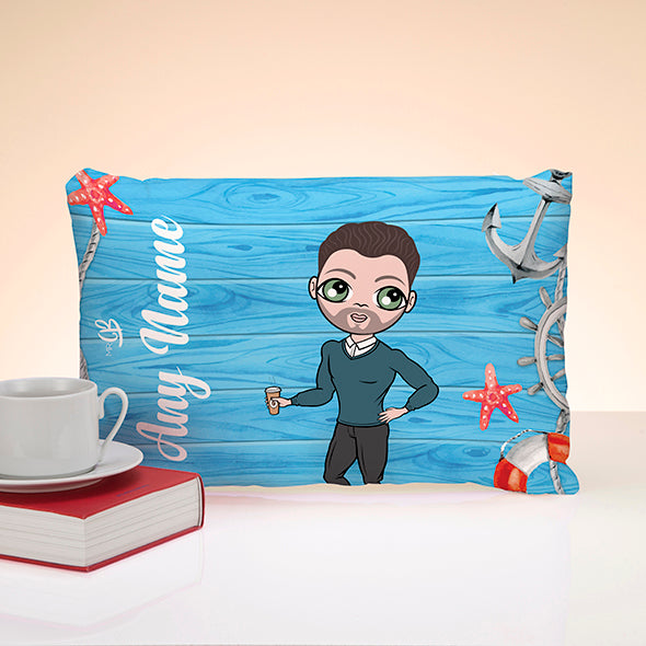 MrCB Nautical Print Placement Cushion - Image 1