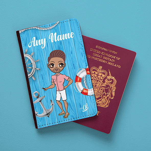MrCB Nautical Print Passport Cover - Image 3