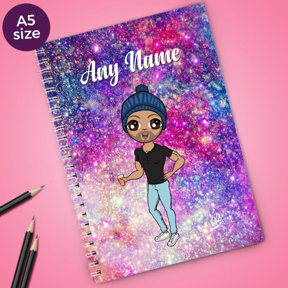 MrCB Glitter Effect A5 Softback NoteBook - Image 1