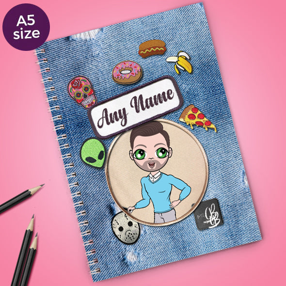 MrCB Denim Effect A5 Softback NoteBook - Image 1