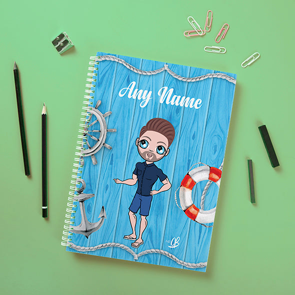 MrCB Nautical Print Hardback Notebook - Image 1