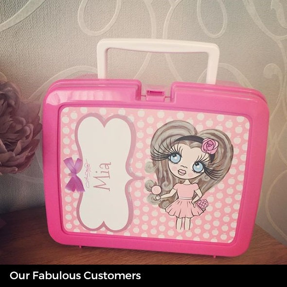 ClaireaBella Girls Polka Dot Apple Lunch Box - Image 3