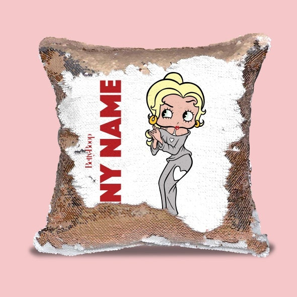 Betty Boop Classic Sequin Cushion - Image 1