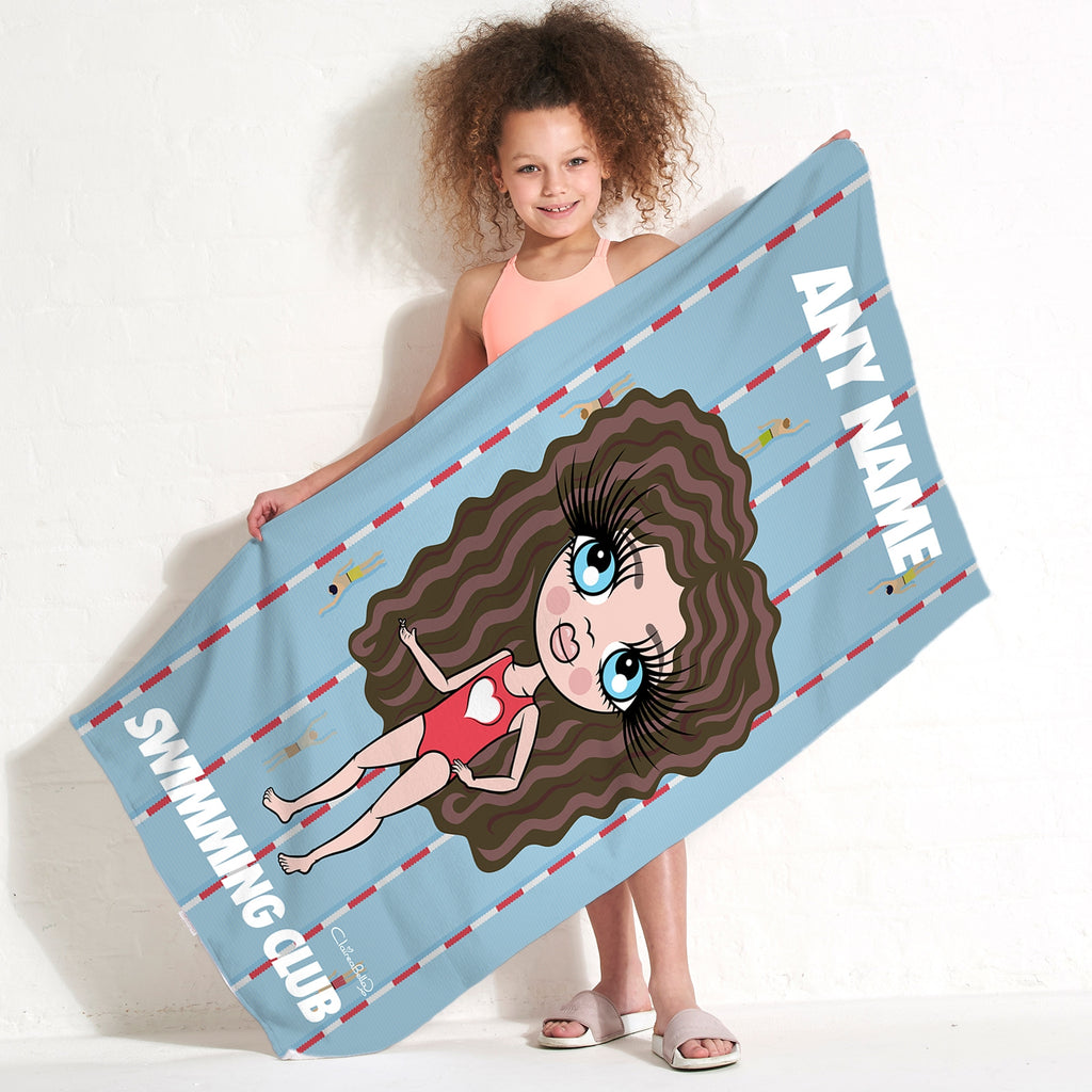 ClaireaBella Girls Lanes Swimming Towel - Image 1