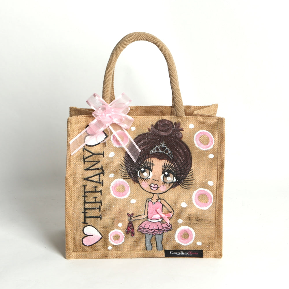 ClaireaBella Girls Dance Large Jute Bag - Image 1