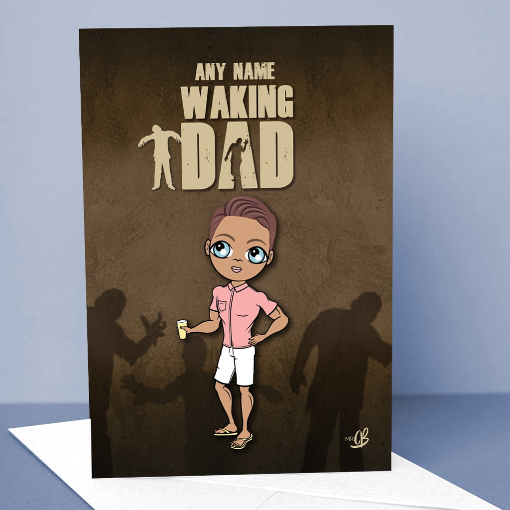 MrCB Waking Dad Greetings Card - Image 1