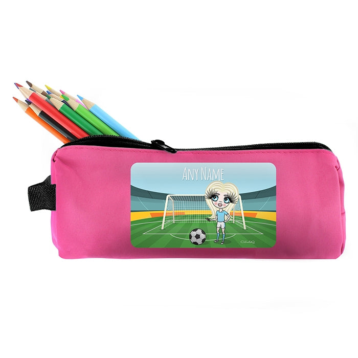 ClaireaBella Girls Football Pencil Case - Image 2