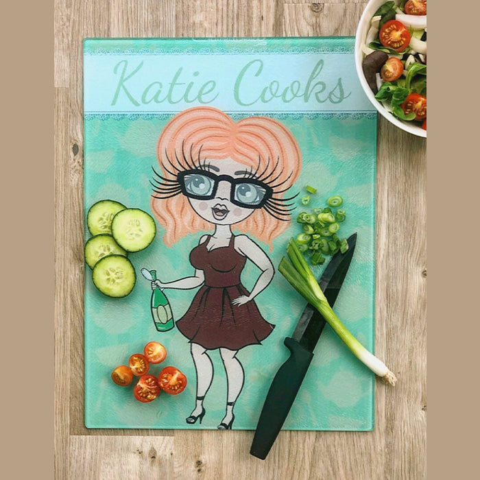 ClaireaBella Glass Chopping Board - Teapot