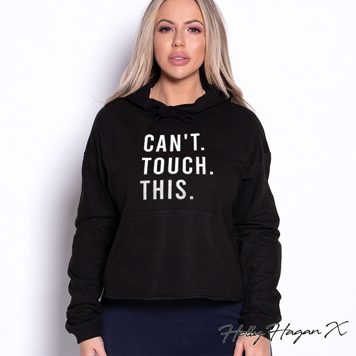 Holly Hagan X Can't Touch This Cropped Hoodie - Image 5