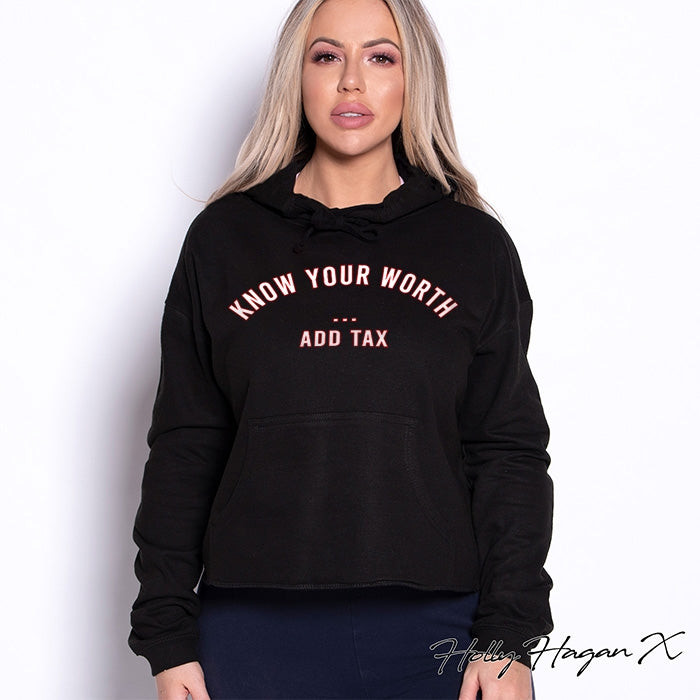 Holly Hagan X Know Your Worth Cropped Hoodie - Image 4