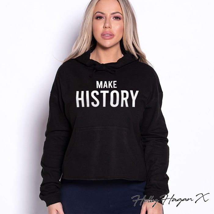 Holly Hagan X Make History Cropped Hoodie - Image 1