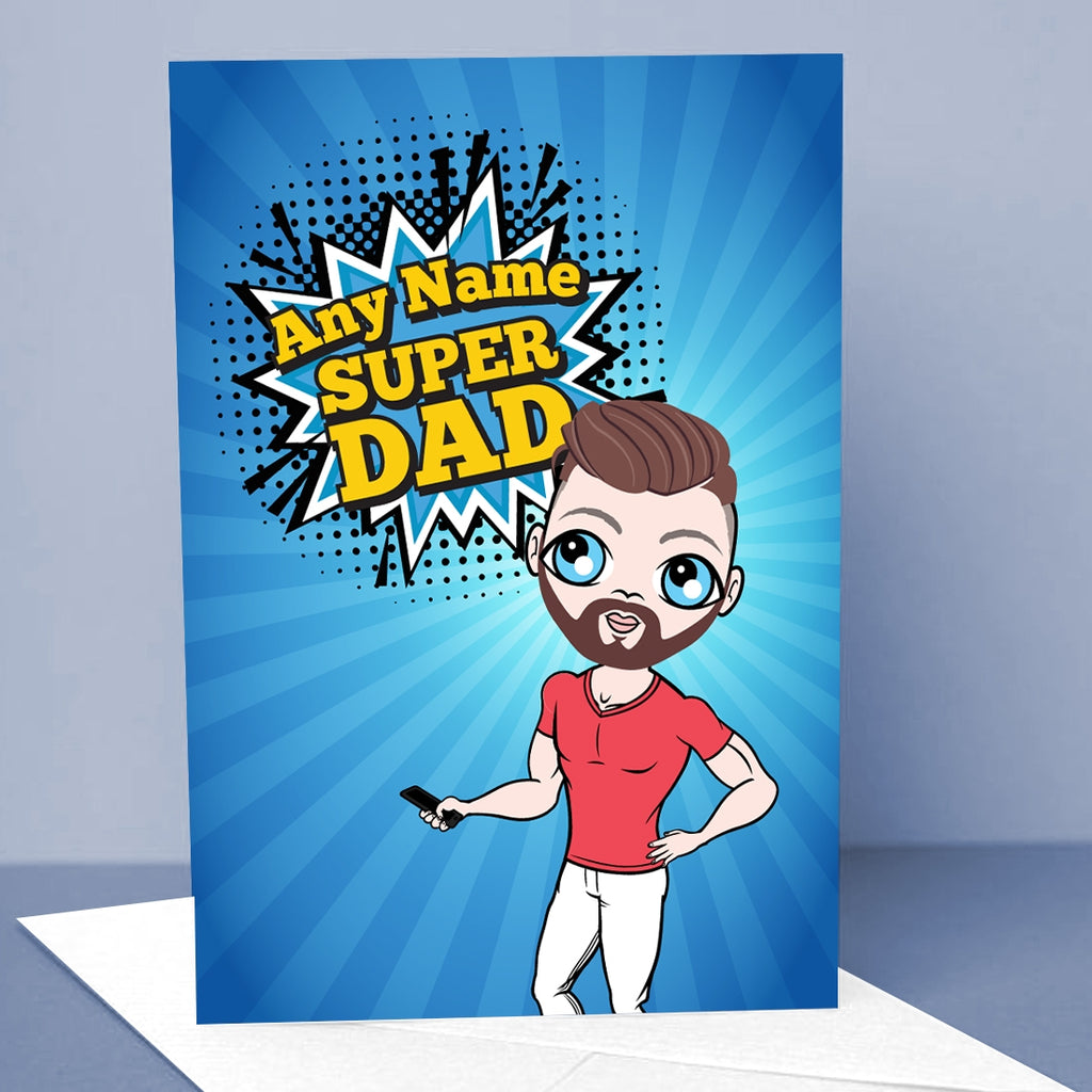 MrCB Super Dad Greetings Card - Image 1