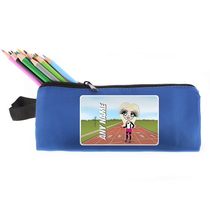 ClaireaBella Girls Running Track Pencil Case - Image 4