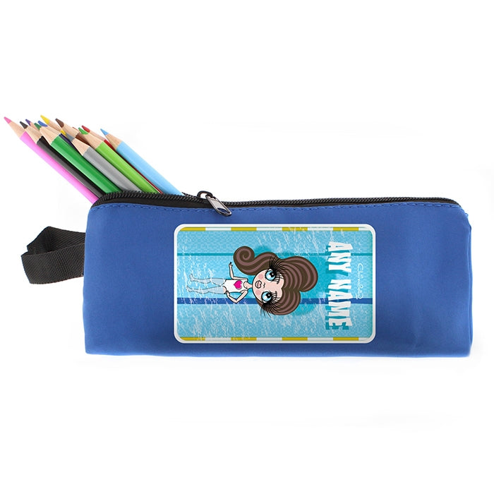 ClaireaBella Girls Swimming Pencil Case - Image 4