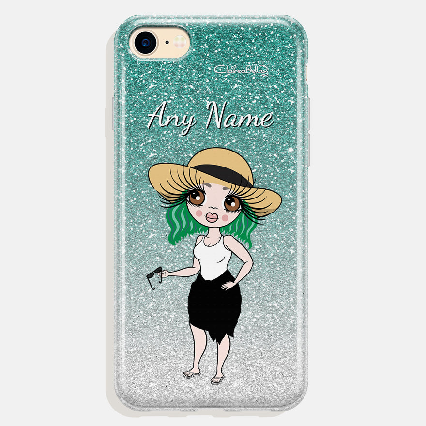 ClaireaBella Personalised Ombre Glitter Effect Phone Case