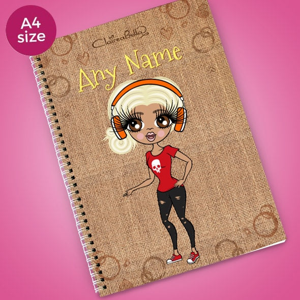 ClaireaBella Jute Bag A4 Notebook - Image 1