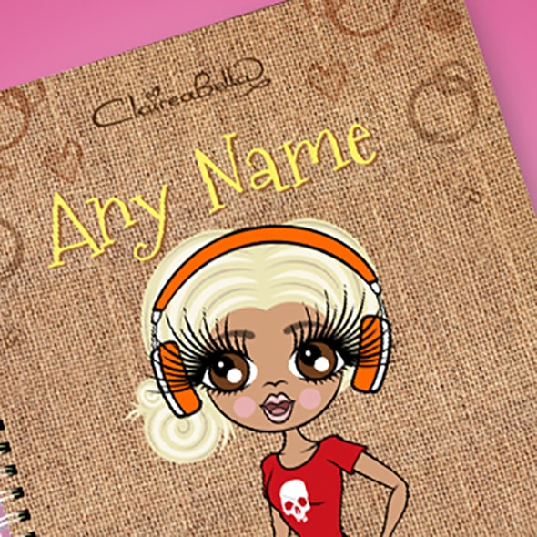 ClaireaBella Jute Bag A4 Notebook - Image 2