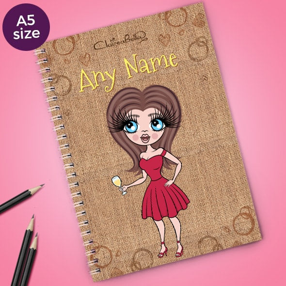 ClaireaBella Jute Bag A5 Notebook - Image 1