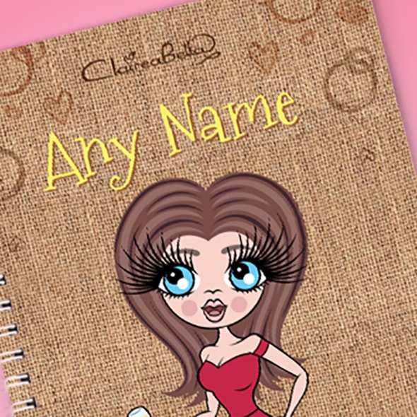 ClaireaBella Jute Bag A5 Notebook - Image 2