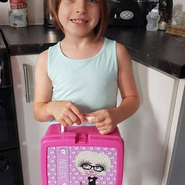 ClaireaBella Girls Unicorn Emoji Lunch Box - Image 2