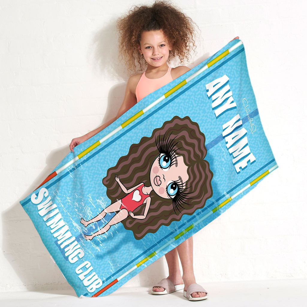 ClaireaBella Girls Floating Swimming Towel - Image 1