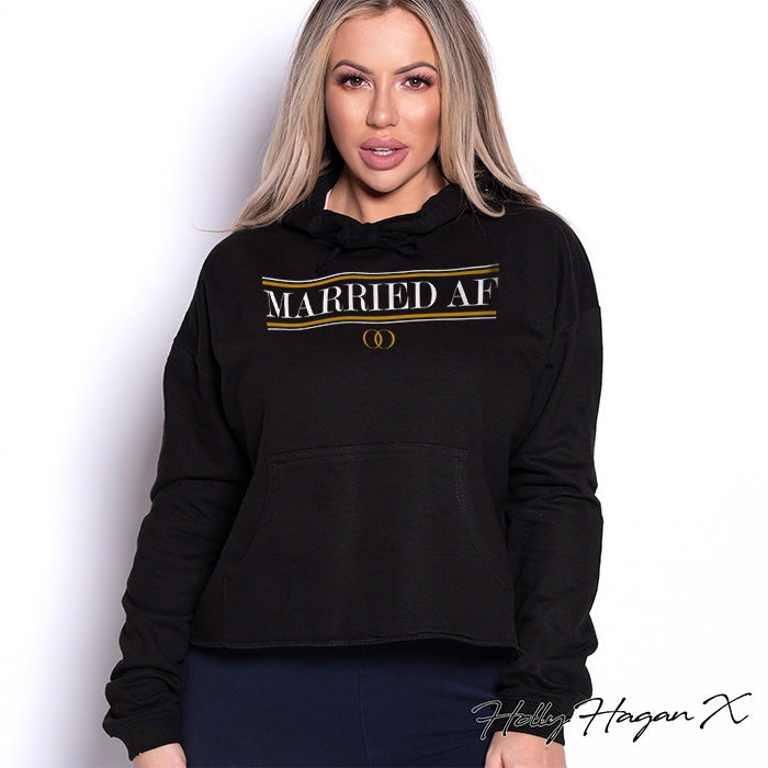 Holly Hagan X Married A.F Cropped Hoodie - Image 1