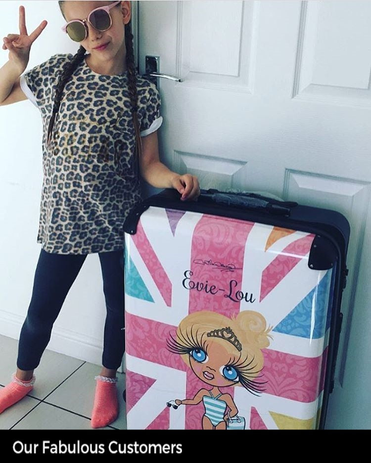 ClaireaBella Girls Union Jack Suitcase - Image 7
