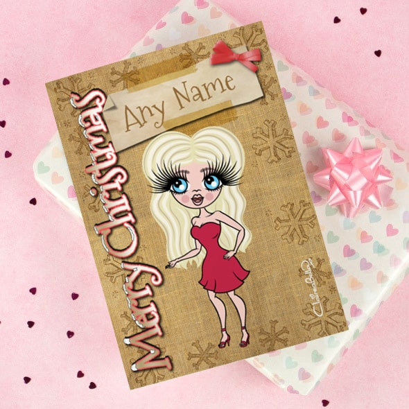 ClaireaBella Christmas Card - Jute - Image 1