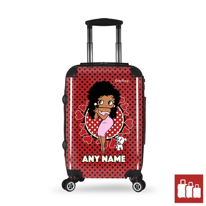 Betty Boop Polka Hearts Suitcase - Image 1