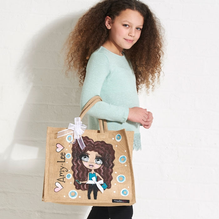 ClaireaBella Girls Large Jute Bag - Image 1