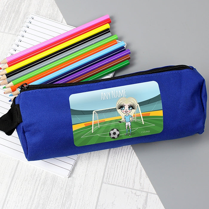 ClaireaBella Girls Football Pencil Case - Image 1