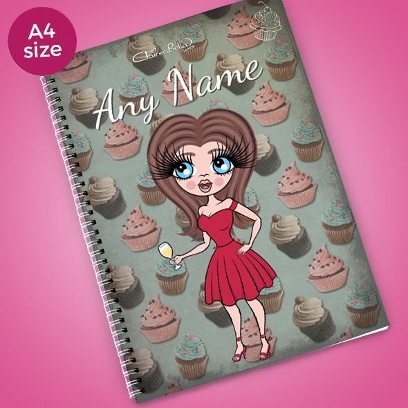 ClaireaBella Cupcake A4 Notebook - Image 1