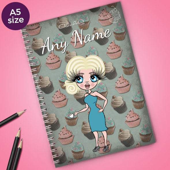 ClaireaBella Cupcake A5 Notebook - Image 1