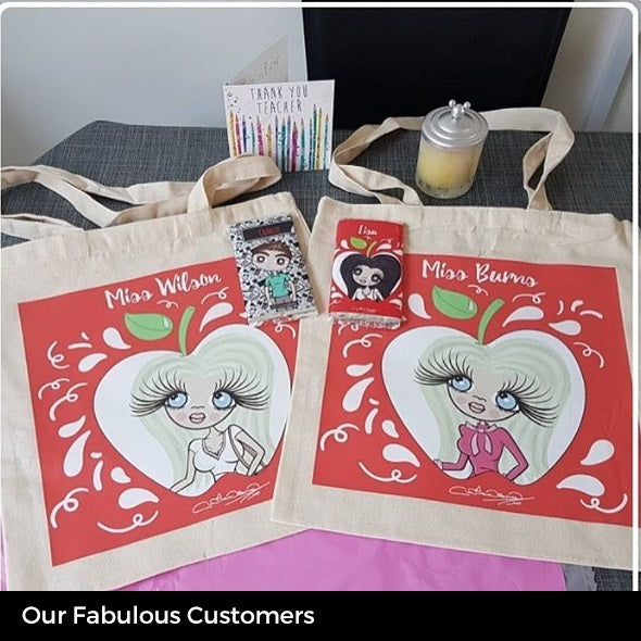 ClaireaBella Canvas Bag - Teacher's Apple - Image 6