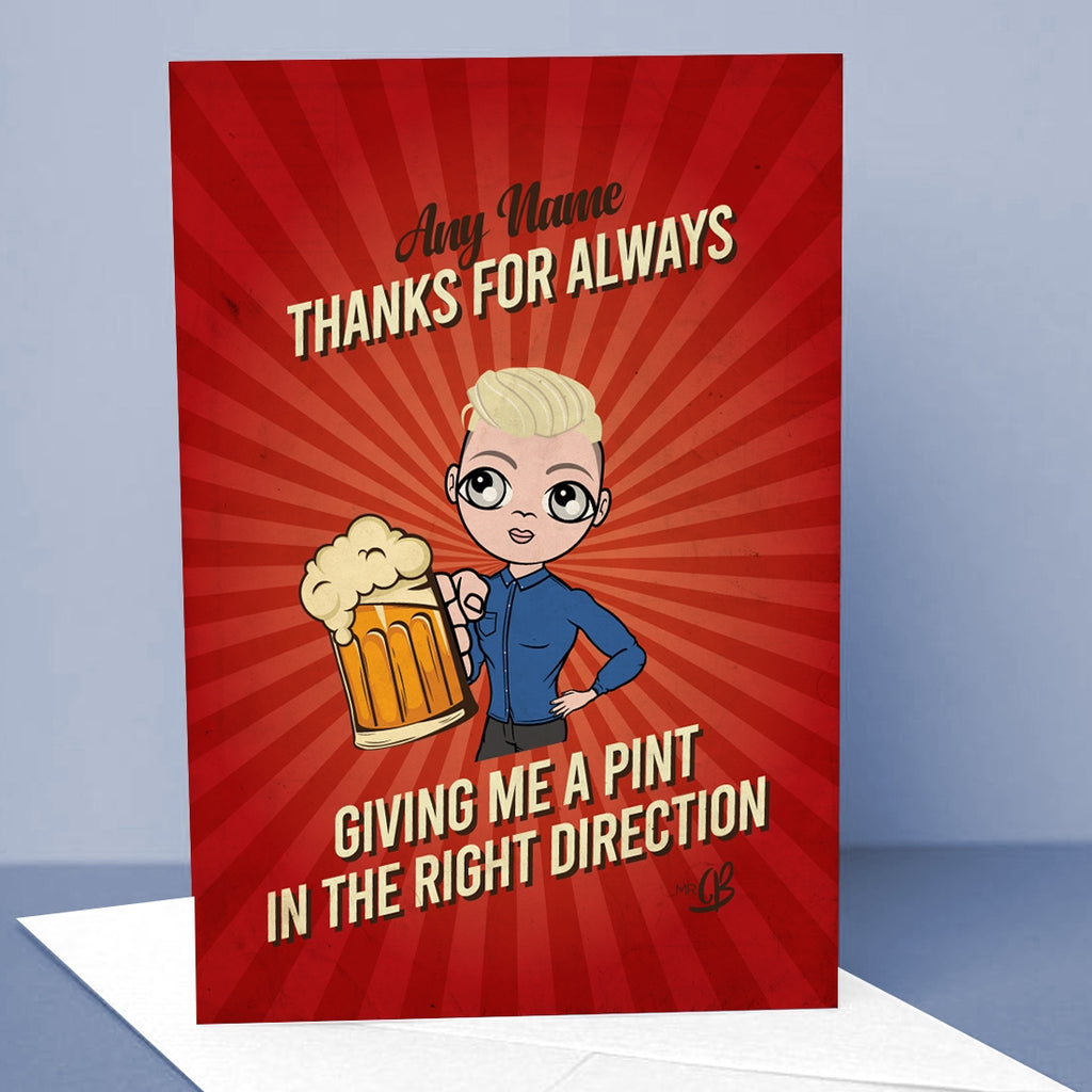 MrCB A Pint Greetings Card - Image 1