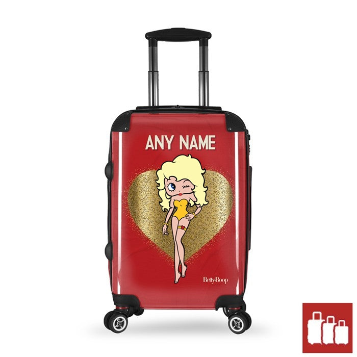 Betty Boop Glitzy Heart Suitcase - Image 1