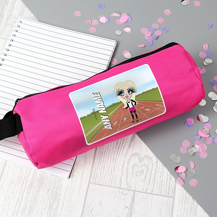 ClaireaBella Girls Running Track Pencil Case - Image 1