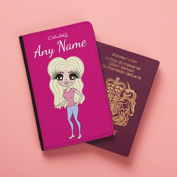 ClaireaBella Hot Pink Passport Cover - Image 1