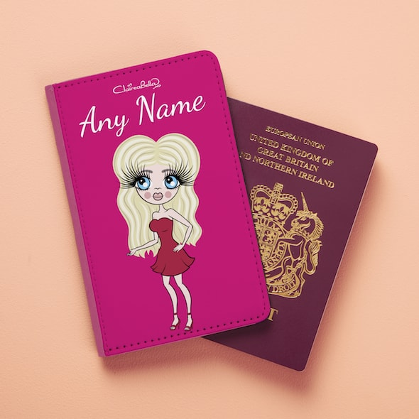ClaireaBella Hot Pink Passport Cover - Image 2