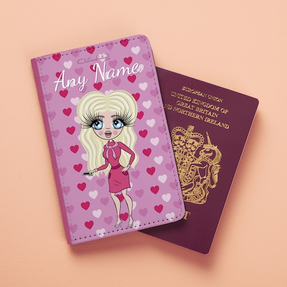 ClaireaBella Heart Print Passport Cover - Image 1