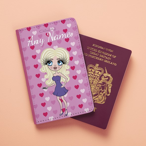 ClaireaBella Heart Print Passport Cover - Image 2