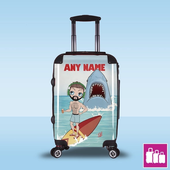 MrCB Retro Shark Attack Suitcase - Image 1