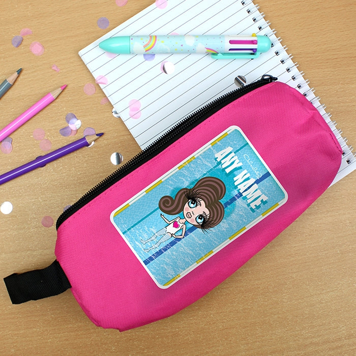 ClaireaBella Girls Swimming Pencil Case - Image 1