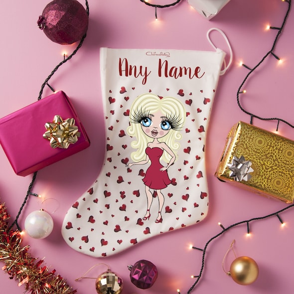 ClaireaBella Red Heart Christmas Stocking - Image 1