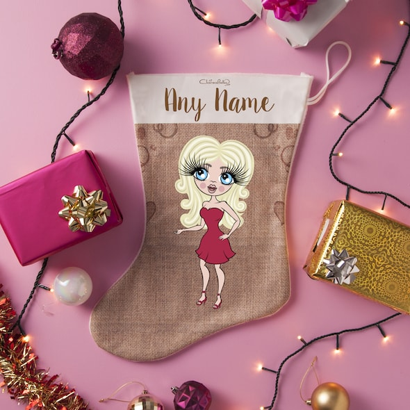 ClaireaBella Jute Christmas Stocking - Image 1