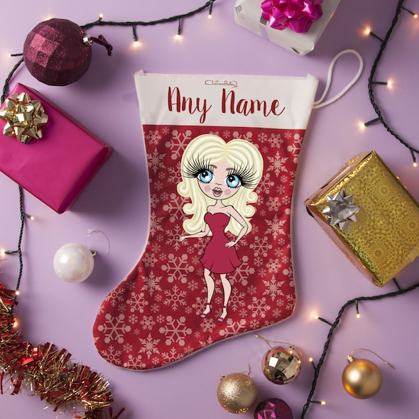 ClaireaBella Snowflake Christmas Stocking - Image 1