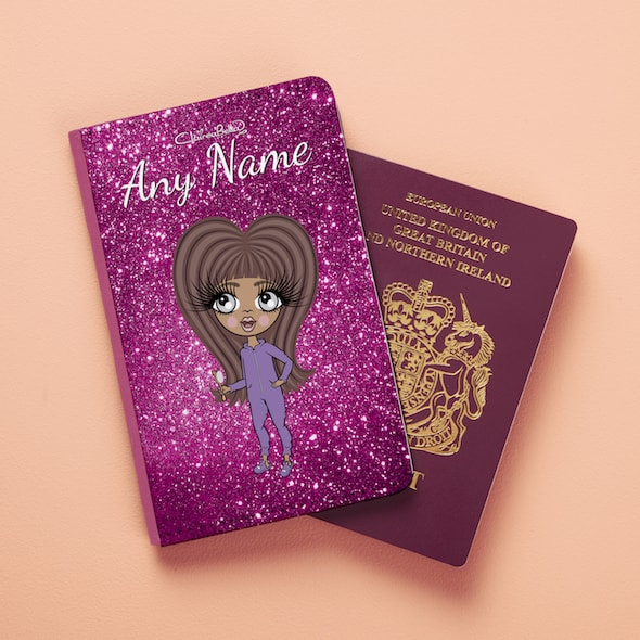 ClaireaBella Girls Glitter Passport Cover - Image 2