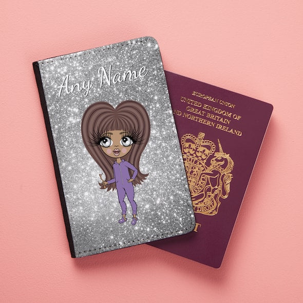 ClaireaBella Girls Glitter Passport Cover - Image 5